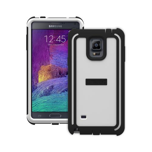 Samsung Galaxy Note 4 Case, Trident [White/ Black] CYCLOPS Series Slim & Rugged Dual Layer Bumper Hybrid Case w/ Built-in Screen Protector