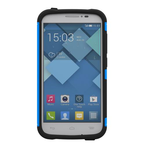 Onetouch Pop C7 Case, Trident [blue / Black] Aegis Series Slim & Rugged Hard Case Over Silicone Skin Dual Layer Hybrid Case W/ Screen Protector