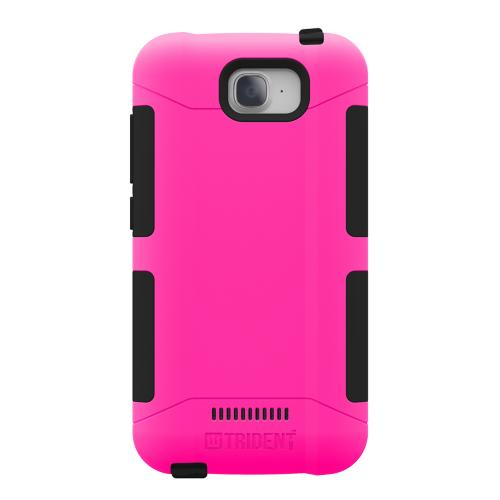 Onetouch Pop C7 Case, Trident [hot Pink / Black] Aegis Series Slim & Rugged Hard Case Over Silicone Skin Dual Layer Hybrid Case W/ Screen Protector