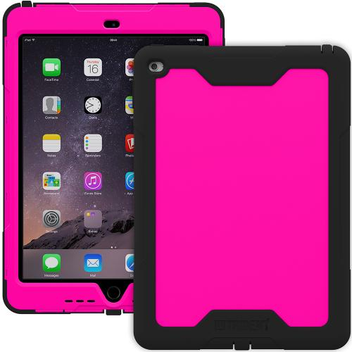 iPad Air 2 Hybrid Case by Trident [Pink/Black] Cyclops Rugged Fused Polycarbonate & Thermo Poly Elastomer Hybrid Case W/ Built-in Screen Protector