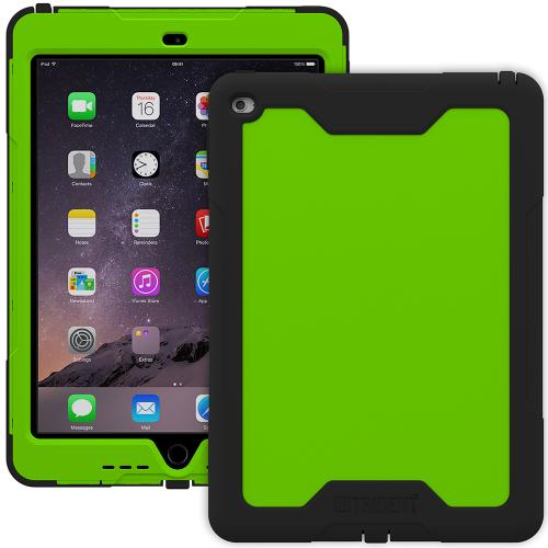 iPad Air 2 Hybrid Case by Trident [Green/Black] Cyclops Rugged Fused Polycarbonate & Thermo Poly Elastomer Hybrid Case W/ Built-in Screen Protector