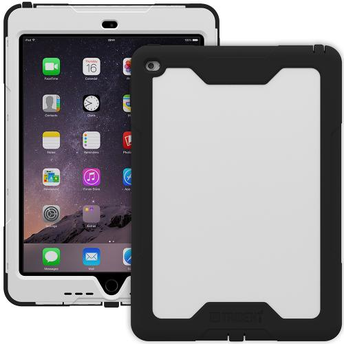 iPad Air 2 Case, Trident [White / Black] Cyclops Series Slim & Rugged Dual Layer Bumper Hybrid Case w/ Built-in Screen Protector for Apple iPad Air 2