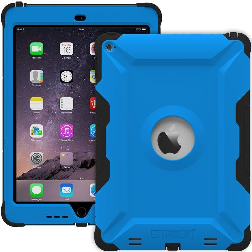 iPad Air 2 Case by Trident [Blue/Black] Kraken AMS Series Rugged Hard Polycarbonate On Silicone Dual Layer Hybrid Case W/ Built-in Screen Protector