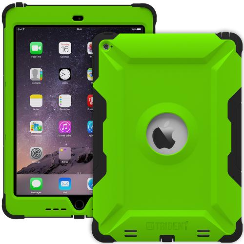 iPad Air 2 Case by Trident [Green/Black] Kraken AMS Series Rugged Hard Polycarbonate On Silicone Dual Layer Hybrid Case W/ Built-in Screen Protector