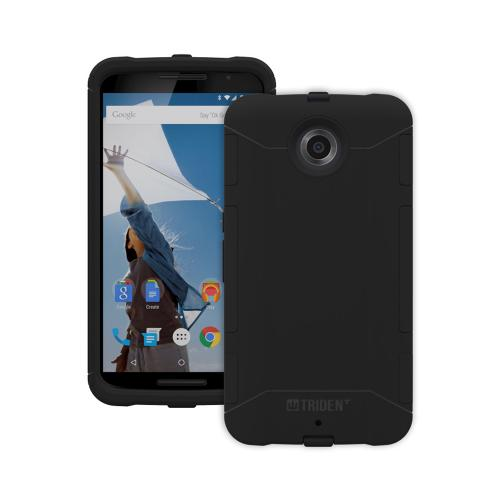 Nexus 6 Case, Trident [Black] Aegis Series Slim & Rugged Hard Cover Over Silicone Skin Dual Layer Hybrid Case w/ Screen Protector for Motorola Nexus 6