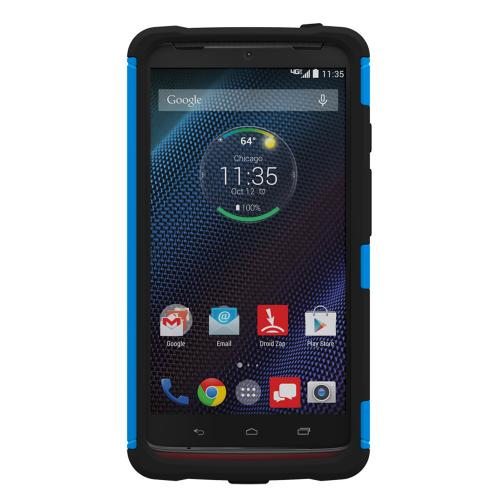 Droid Turbo Dual Layer Case by Trident [Blue/Black] Aegis Series Slim & Rugged Hard Case Over Silicone Skin Dual Layer Hybrid Case W/ Screen Protector