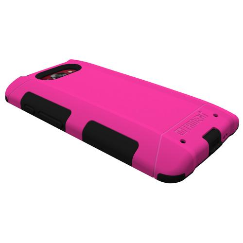 Droid Turbo Dual Layer Case by Trident [Pink/Black] Aegis Series Slim & Rugged Hard Case Over Silicone Skin Dual Layer Hybrid Case W/ Screen Protector