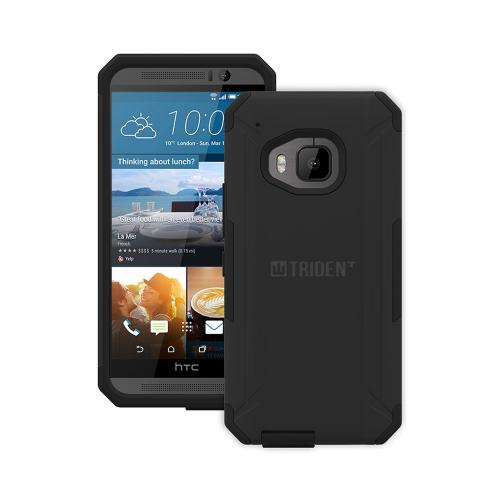 HTC One M9 Case, Trident [Black] AEGIS Series Slim & Rugged Hard Case Over Silicone Skin Dual Layer Hybrid Case w/ Screen Protector