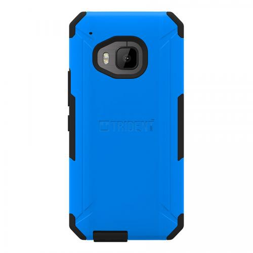 HTC One M9 Case, Trident [Blue/Black] AEGIS Series Slim & Rugged Hard Case Over Silicone Skin Dual Layer Hybrid Case w/ Screen Protector