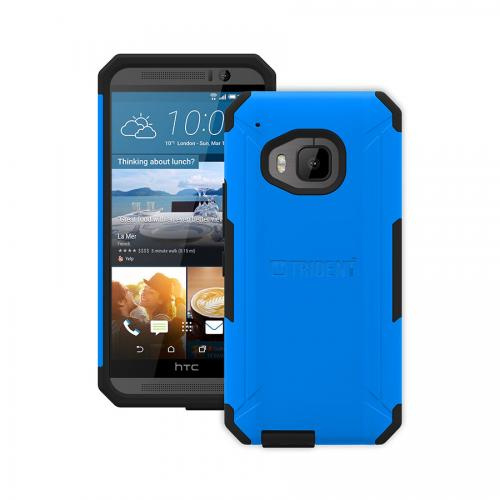HTC One (M9) Cases by Trident | [Blue/Black] Aegis Series Slim & Rugged Hard Case Over Silicone Skin Dual Layer Hybrid Case W/ Screen Protector