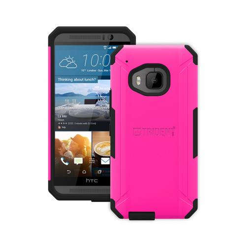 One M9 Case, Trident [Hot Pink] Aegis Series Slim & Rugged Hard Cover Over Silicone Skin Dual Layer Hybrid Case w/ Screen Protector for HTC One M9