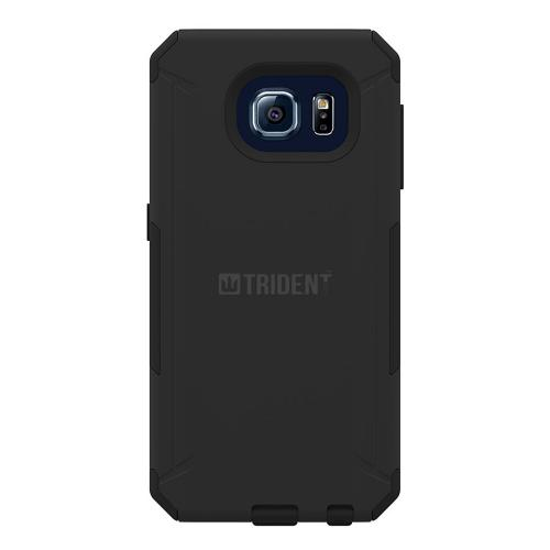 Samsung Galaxy S6 Case, Trident [Black] AEGIS Series Slim & Rugged Hard Case Over Silicone Skin Dual Layer Hybrid Case w/ Free Screen Protector