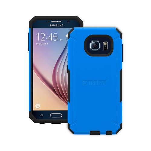 Trident Galaxy S6 Case | [Blue/ Black] Aegis Series Slim & Rugged Hard Cover over Silicone Skin Dual Layer Hybrid Case w/ Screen Protector for Samsung Galaxy S6 | Great Alternative to Otterbox!