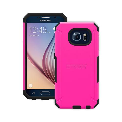 Trident Galaxy S6 Case | [Hot Pink/ Black] Aegis Series Slim & Rugged Hard Cover over Silicone Skin Dual Layer Hybrid Case w/ Screen Protector for Samsung Galaxy S6 | Great Alternative to Otterbox!