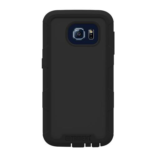 Samsung Galaxy S6 Case, Trident [Black] CYCLOPS Series Featuring Fused Polycarbonate and Thermo Poly Elastomer w/ Built-in Screen Protector