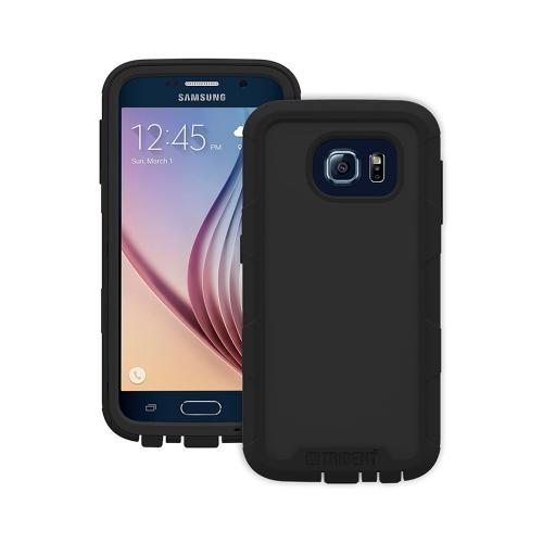 Trident Galaxy S6 Case | [Black] Cyclops Series Rugged Fused Polycarbonate & Thermo Poly Elastomer (Super TOUGH!!) Dual Material Hybrid Case w/ Built-in Screen Protector for Samsung Galaxy S6 |