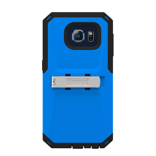 Samsung Galaxy S6 Case, Trident [Blue/ Black] KRAKEN AMS Series Series Rugged Protective Hard Polycarbonate On Silicone Hybrid Case w/ Built- In Screen Protector