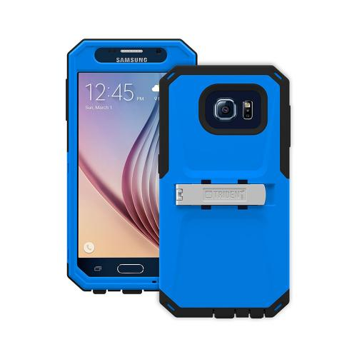 Trident Galaxy S6 Case | [Blue/ Black] Kraken AMS Series Rugged Protective Hard Polycarbonate on Silicone Dual Layer Hybrid Case w/ Built-in Screen Protector for Samsung Galaxy S6 | Great Alternative to Otterbox!