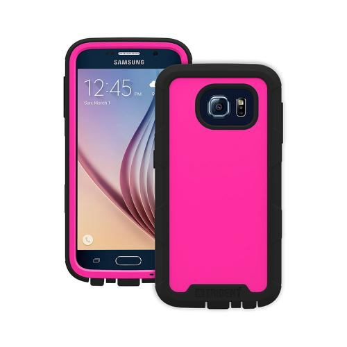 Samsung Galaxy S6 Case, Trident [Pink/ Black] CYCLOPS Series Featuring Fused Polycarbonate and Thermo Poly Elastomer w/ Built-in Screen Protector