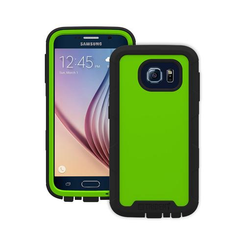 Samsung Galaxy S6 Case, Trident [Lime Green/ Black] CYCLOPS Series Featuring Fused Polycarbonate and Thermo Poly Elastomer w/ Built-in Screen Protector