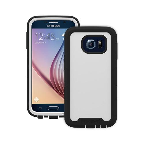 Samsung Galaxy S6 Case, Trident [White/ Black] CYCLOPS Series Featuring Fused Polycarbonate and Thermo Poly Elastomer w/ Built-in Screen Protector