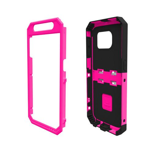 Samsung Galaxy S6 Case, Trident [Pink/ Black] KRAKEN AMS Series Series Rugged Protective Hard Polycarbonate On Silicone Hybrid Case w/ Built- In Screen Protector