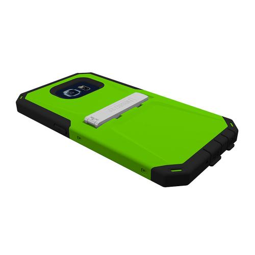 Samsung Galaxy S6 Case, Trident [Lime Green/ Black] KRAKEN AMS Series Series Rugged Protective Hard Polycarbonate On Silicone Hybrid Case w/ Built- In Screen Protector