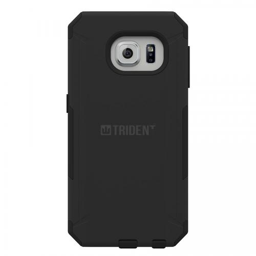 Samsung Galaxy S6 Edge Case, Trident [Black] AEGIS Series Featuring Slim & Rugged Hard Case Over Silicone Skin Hybrid Case
