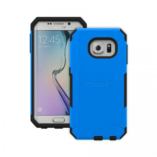 Galaxy S6 Edge Dual Layer Case by Trident [Blue] Aegis Series Featuring Slim & Rugged Hard Case Over Silicone Skin Hybrid Case W/ Screen Protector