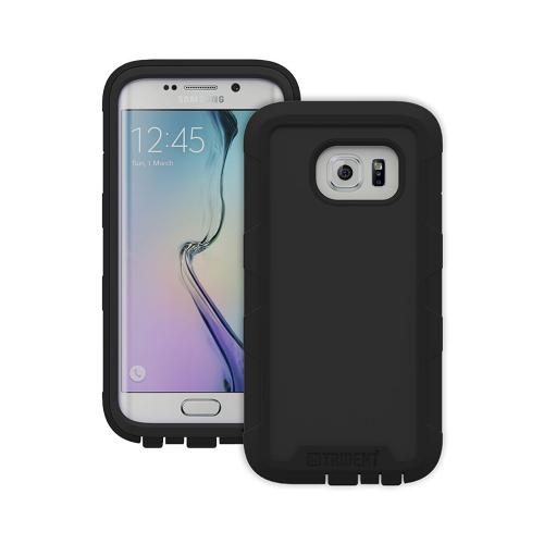 TRIDENT Black Cyclops Series Rugged Dual Layer Hybrid Bumper Case for Samsung Galaxy S6 Edge + Screen Protector