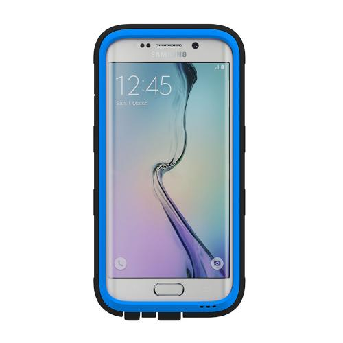 Samsung Galaxy S6 Edge Case, Trident [Blue] CYCLOPS Series Rugged Fused Polycarbonate & Thermo Poly Elastomer Hybrid Case