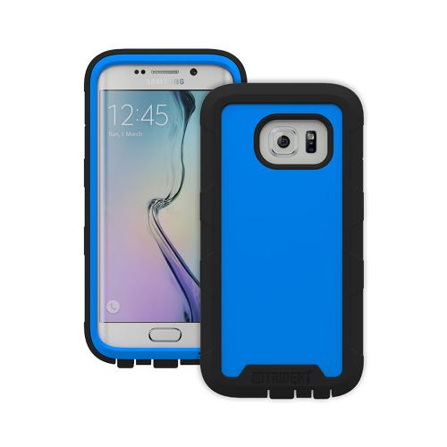 Galaxy S6 Edge Case by Trident | [Blue/Black] Cyclops Rugged Fused Polycarbonate & Thermo Poly Elastomer Hybrid Case W/ Built-in Screen Protector