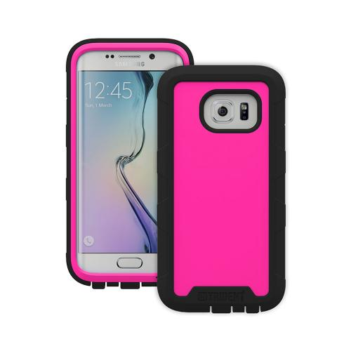 Galaxy S6 Edge Case by Trident | [Hot Pink] Cyclops Series Rugged Fused Polycarbonate & Thermo Poly Elastomer (Super TOUGH!!) Dual Material Hybrid Case