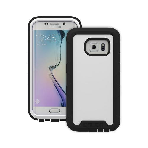 Galaxy S6 Edge Case by Trident | [White/Black] Cyclops Rugged Fused Polycarbonate & Thermo Poly Elastomer Hybrid Case W/ Built-in Screen Protector