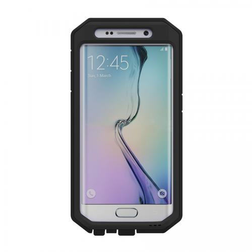 Samsung Galaxy S6 Edge Case, Trident [Black] KRAKEN AMS Series Rugged Protective Polycarbonate on Silicone Dual Layer Case