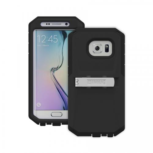 Galaxy S6 Edge Case by Trident | [Black] Kraken AMS Rugged Protective Polycarbonate on Silicone Dual Layer Case