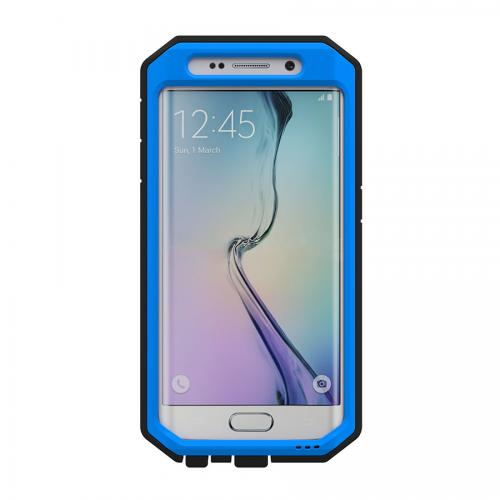 Samsung Galaxy S6 Edge Case, Trident [Blue/ Black] KRAKEN AMS Series Rugged Protective Polycarbonate on Silicone Dual Layer Case