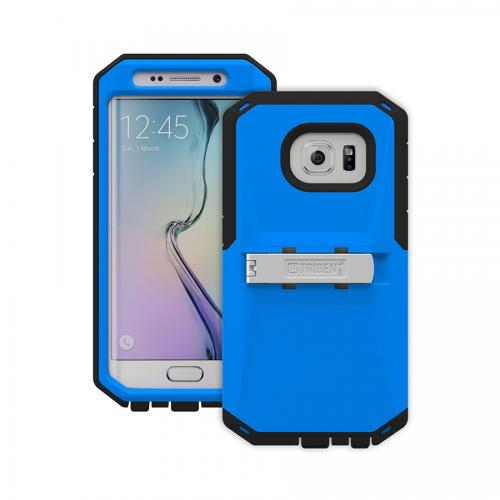 Galaxy S6 Edge Case by Trident | [Blue/Black] Kraken AMS Rugged Protective Polycarbonate on Silicone Dual Layer Case W/ Built-in Screen Protector