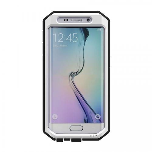 Samsung Galaxy S6 Edge Case, Trident [White/ Black] KRAKEN AMS Series Rugged Protective Polycarbonate on Silicone Dual Layer Case