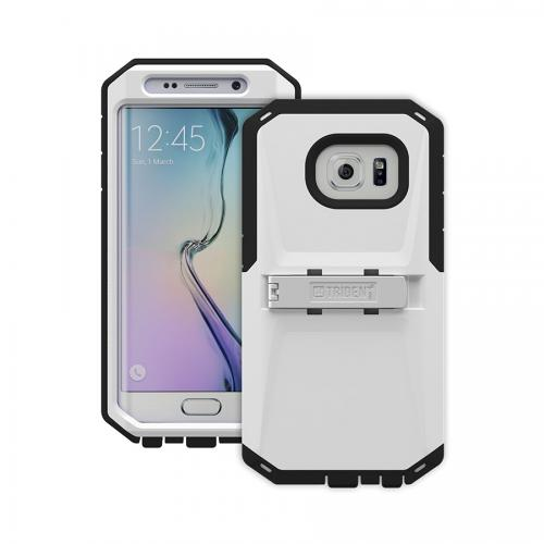 Galaxy S6 Edge Case by Trident | [White/Black] Kraken AMS Rugged Protective Polycarbonate on Silicone Dual Layer Case W/ Built-in Screen Protector