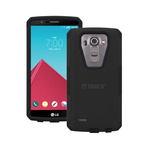 TRIDENT Black Hard Plastic on Silicone Dual Layer Hybrid Case Cover Skin for LG G4