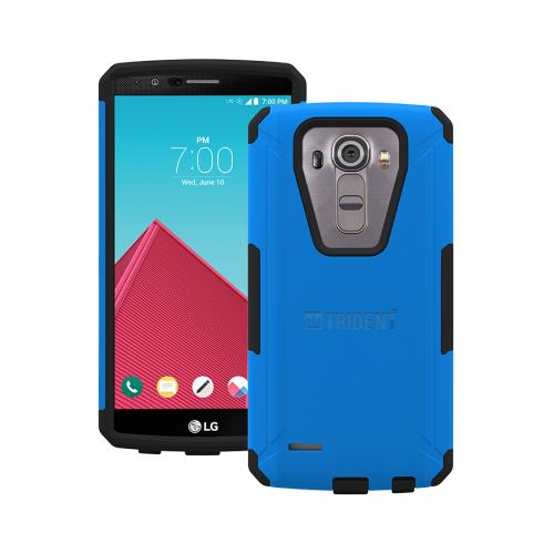 G4 Case, Trident [Blue] Aegis Series Slim & Rugged Hard Cover Over Silicone Skin Dual Layer Hybrid Case w/ Screen Protector for LG G4