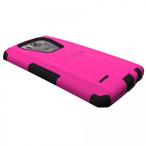 LG G4 Case, Trident [Hot Pink] AEGIS Series Slim & Rugged Hard Cover Over Silicone Skin Dual Layer Hybrid Case w/ Screen Protector