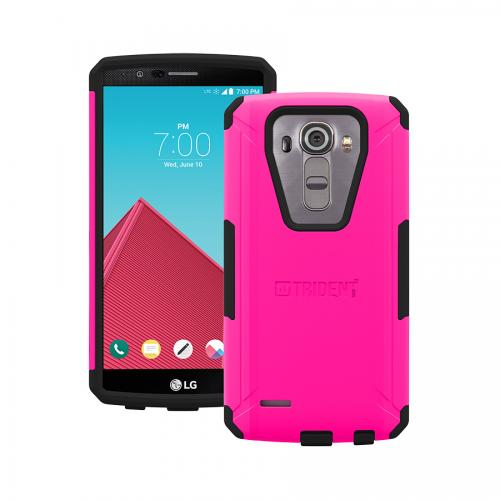 G4 Case, Trident [Hot Pink] Aegis Series Slim & Rugged Hard Cover Over Silicone Skin Dual Layer Hybrid Case w/ Screen Protector for LG G4