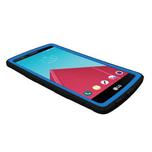 LG G4 Case,Trident [Black/ Blue] CYCLOPS Series Rugged Dual Layer Hybrid Bumper Case w/ Screen Protector