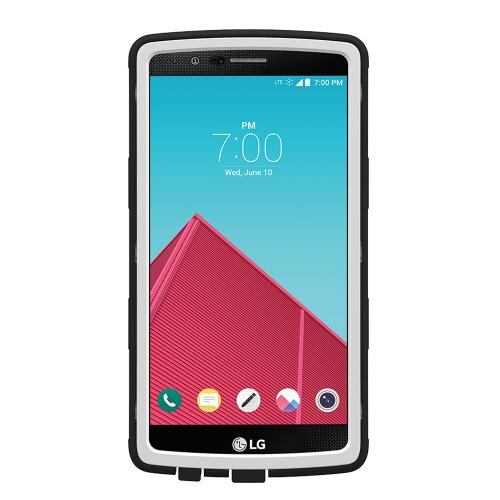 LG G4 Case, Trident [Black/ White] CYCLOPS Series Rugged Dual Layer Hybrid Bumper Case w/ Screen Protector