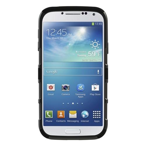 Seidio Black Active Series Combo Rubberized Hard Cover Over Silicone w/ Kickstand & Holster for Samsung Galaxy S4