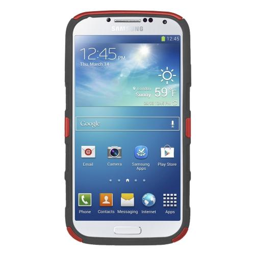 Seidio Garnet Red/ Black Active Series Combo Rubberized Hard Cover Over Silicone w/ Kickstand & Holster for Samsung Galaxy S4 - BD2-HK3SSGS4K-GR