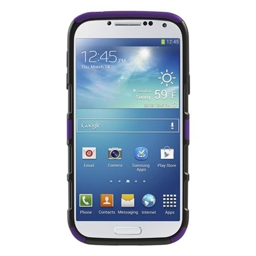 Seidio Purple/ Black Active Series Combo Rubberized Hard Cover Over Silicone w/ Kickstand & Holster for Samsung Galaxy S4 - BD2-HK3SSGS4K-PR