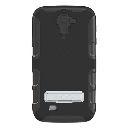 Seidio Black Convert Combo Hard Cover Over Silicone w/ Kickstand, Holster & Belt Clip for Samsung Galaxy S4